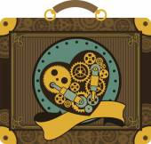 Steampunk mechanical heart — Vector de stock