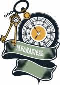 Steampunk mechanism — Stock Vector