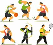Athletes of various sports — Stock Vector