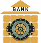 Bank safe — Stock Vector