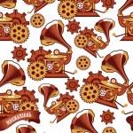 Seamless pattern Steampunk mechanism — Stock Vector #75922831