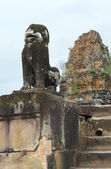 Sculpture at Preah Khan — Stock Photo