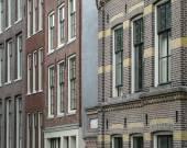 Husfasader i amsterdam — Stockfoto