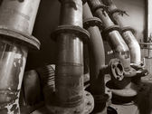 Historic pipes — Stock Photo