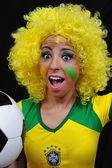 Female soccer fans — Stock Photo
