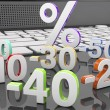 3d collection discount numbers — Stock Photo #62359935