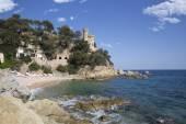 Kasteel van lloret de mar, costa brava, Catalonië, Spanje, Europa — Stockfoto