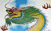 Chinese Dragon Wall Painting — Stock Photo