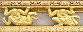 Gold Decoration of Ubosoth — Stock Photo
