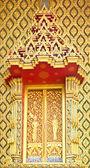 Traditional Thai Style on Window Temple — Stock Photo