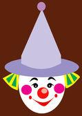 Bozo Clown Face — Stock Vector