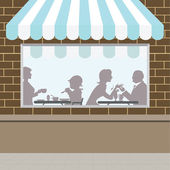 Front of Coffee Shop — Stock Vector