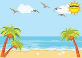 Sea Sand Beach Background — Stockvektor