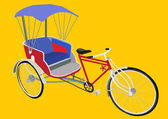 Tricycle in Thailand — Stock Vector