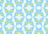 Blue Butterfly Pattern Design — Stok Vektör