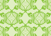 緑の蝶のパターン — ストックベクタ