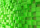 Abstract background. Green cubes on a green background — Stock Photo