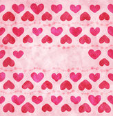 Watercolor hearts background — Stock Vector