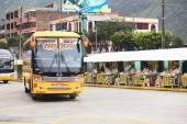 Terminal de autobuses en baños, ecuador — Foto de Stock