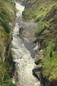 Pastaza rzeki w Baños, Ekwador — Zdjęcie stockowe