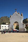 Gate of the Basilica of Copacabana, Bolivia — Stock Photo