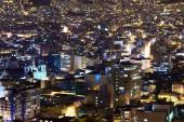 La Paz in Bolivia at Night — Stock Photo