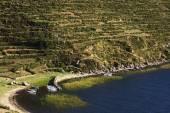 Bay on Isla del Sol in Lake Titicaca Bolivia — Stock Photo