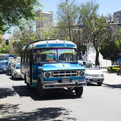 Old Dodge Bus in La Paz, Bolivia — Stock Photo