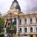 Постер, плакат: Legislative Palace on Plaza Murillo in La Paz Bolivia