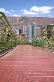 Via Balcon Pedestrian Path in La Paz, Bolivia — Stock Photo