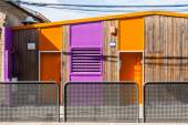 Colorful wooden houses — Stock Photo