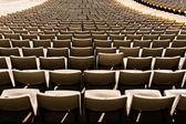 Old seats on stadium — Stock Photo