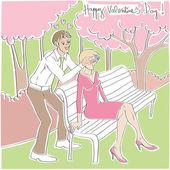 Valentijn verrassing — Stockfoto