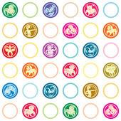 Zodiac signs retro pattern — Stockfoto