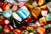 Semi-precious gemstones — Stock Photo