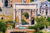 Arch of Septimus Severus in Rome, Italy — Stock Photo