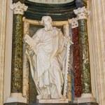 Apostle Simon sculpture in Basilica of Saint John Lateran in Rom — Stock Photo #58452495
