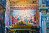 Interior paintings in Basilica of Saint John Lateran in Rome, It — Stock Photo