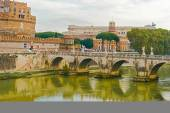 St. Angelo Bridge in Rome,  Italy. — Stock Photo