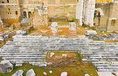 Foro de Augusto, el templo de Mars Ultor en Roma, Italia — Foto de Stock