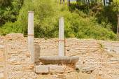 Nympheum water fountain to Herdoes Atticus in Olympia Greece — Stock Photo