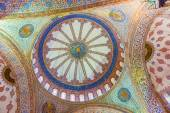 The Sultan Ahmed Mosque is a historic mosque in Istanbul, Turkey — Stok fotoğraf