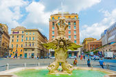 Fountain in Piazza Barberini in Rome, Italy. — Stock Photo
