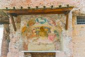 Frescoes on the wall, Rome, Italy. — Stock Photo