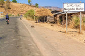 Vägskylt Negade Bahir Village i Etiopien. — Stockfoto