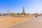Road intersection in Sudan — Stock Photo