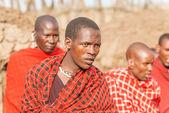 Masai people in Tanzania — Stock Photo
