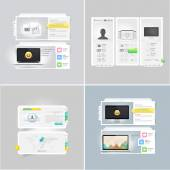 Collection: set of portfolio website templates — Stock Vector