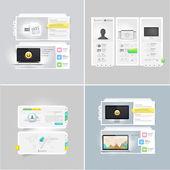 Collection: set of portfolio website templates — Stock Vector