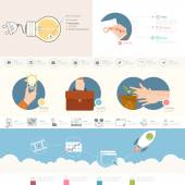 Set of infographics elements for presentation templates. — Stock Vector